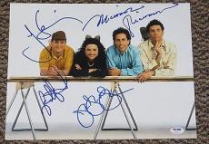 Seinfeld Cast Signed 11x14 Photo Autograph Richards, Dreyfus, Alexander Psa/dna