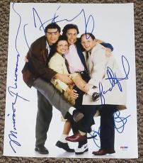 Seinfeld Cast Signed 11x14 Photo Autograph Richards, Dreyfus, Jerry Psa/dna
