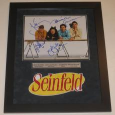 Seinfeld Cast Signed 11x14 Photo Jerry Seinfeld Professionally Framed Psa Loa