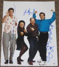 Seinfeld Cast Signed 16x20 Photo Jerry Seinfeld Richards Alexander Dreyfus Psa B