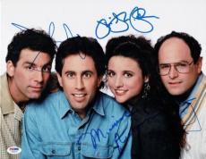 Seinfeld Cast Signed Authentic 11x14 Photo 4 Signatures PSA/DNA #V08229