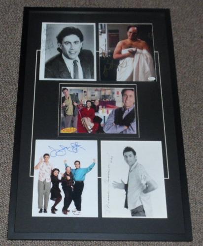 Seinfeld Cast Signed Framed 21x33 Photo Display JSA Jerry George Elaine Kramer