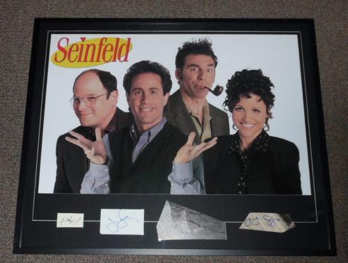 Seinfeld Cast Signed Framed 33x40 Photo Display JSA Jerry George Elaine Kramer