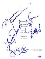 """Seinfeld Cast Signed """"the Contest"""" Script 5 Authentic Autographs Psa L"""