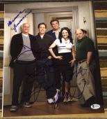 "SEINFELD"" LARRY DAVID FULL CAST 5X SIGNED AUTOGRAPH 11x14 SHOW PHOTO JERRY BAS"