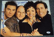 "Seinfeld"" Signed Autograph Full Show Cast Very Rare 11x14 Photo Psa/dna V04614"
