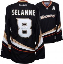 Teemu Selanne Anaheim Ducks Autographed Black Reebok Jersey