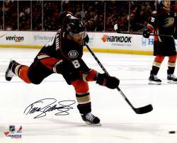 "Teemu Selanne Anaheim Ducks Autographed 16"" x 20"" Shooting Black Photograph"