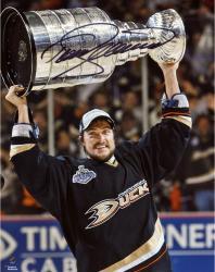 "Teemu Selanne Anaheim Ducks Autographed 8"" x 10"" with Cup Photograph"