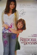Selena Gomez auto signed autographed Ramona & Beezus mini movie poster IN PERSON