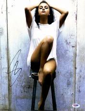 "Selena Gomez Autographed 11"" x 14"" Posing  Photograph - PSA/DNA"