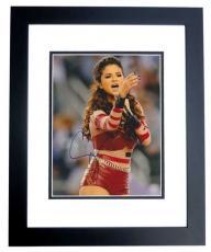 Selena Gomez Autographed Sexy Concert 8x10 Photo BLACK CUSTOM FRAME