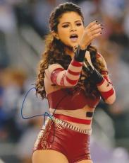 Selena Gomez Autographed Sexy Concert 8x10 Photo
