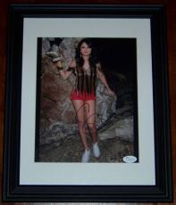 Selena Gomez Short Shorts Signed Autographed Framed 8x10 Photo JSA COA