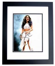 Selena Gomez Signed - Autographed Actress - Singer Concert 8x10 Photo BLACK CUSTOM FRAME