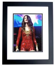 Selena Gomez Signed - Autographed Sexy Concert 8x10 Photo BLACK CUSTOM FRAME
