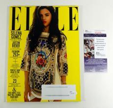 Selena Gomez Signed Elle Magazine July 2012 2012 JSA Auto