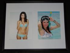 Selena Gomez Signed Framed 16x20 Photo Set JSA Spring Breakers