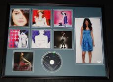 Selena Gomez Signed Framed 18x24 Kiss & Tell CD & Photo Display JSA B