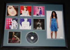 Selena Gomez Signed Framed 18x24 Kiss & Tell CD & Photo Display JSA B