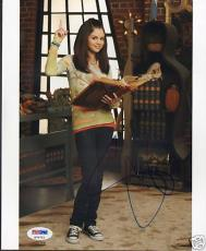 "Selena Gomez Signed ""Waverly Place"" 8x10 Photo PSA/DNA"