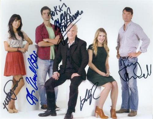 Seminar autographed by Alan Rickman Jerry OConnell Hamish Linklater Hettienne Park Lily Rabe 8x11 Broadway Play Image #NG1