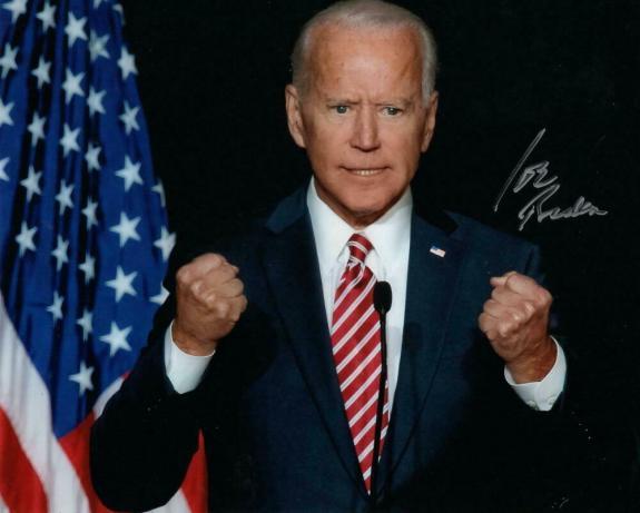 President Joe Biden Signed Autograph 8x10 Photo - Fighting For America! Acoa