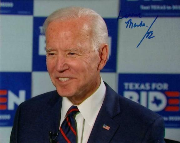 President Joe Biden Signed Autograph 8x10 Photo - On The Stump In Texas, Acoa