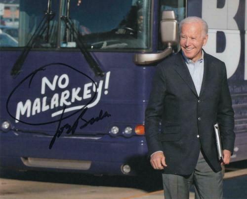 President Joe Biden Signed Autograph 8x10 Photo -2020 No Malarkey! Rare Acoa Coa