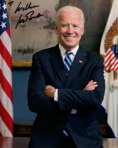 "President Joe Biden Signed Autograph 8x10 Photo ""to William"" Inside White House"