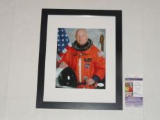 Senator John Glenn Signed Framed And Matted 8x10 Photo Astronaut Jsa Coa