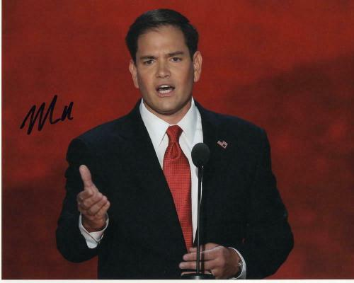 Senator Marco Rubio Signed Autographed 8x10 Photo - Florida, Donald Trump A