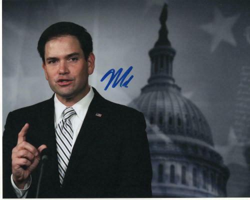 Senator Marco Rubio Signed Autographed 8x10 Photo - Florida, Donald Trump B