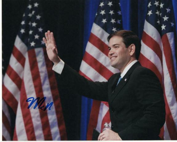 Senator Marco Rubio Signed Autographed 8x10 Photo - Florida, Donald Trump E
