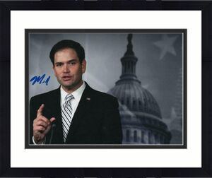 Senator Marco Rubio Signed Autographed 8x10 Photo - Florida, Donald Trump F