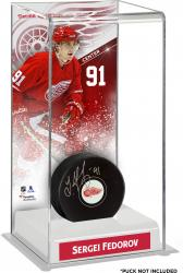 Sergei Fedorov Detroit Red Wings Deluxe Tall Hockey Puck Case