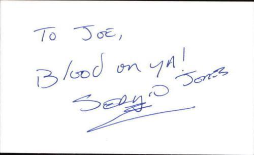 "SERGIO JONES BAYWATCH Signed 3""x5"" Index Card"