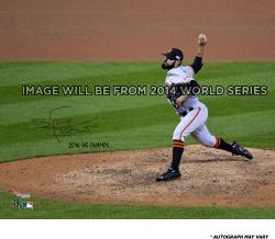 """Sergio Romo San Francisco Giants Autographed 16 x 20"""" Photograph with 14 WS Champs Inscription"""