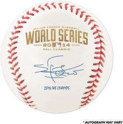 Sergio Romo San Francisco Giants Autographed 2014 World Series Baseball with 14 WS Champs Inscription