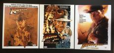 Set Of 3 Harrison Ford Signed 11x14 Photo Psa Loa Coa Indiana Jones Autograph