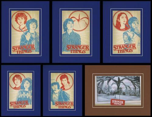 Set of (6) Stranger Things Framed 11x14 Poster Displays