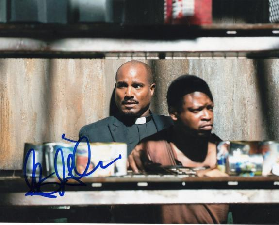 Seth Gilliam The Walking Dead Father Gabriel Stokes Signed 8x10 Photo w/COA