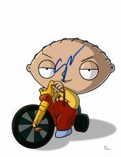 "Seth Macfarlane Autographed 11"" x 14"" Stewie Riding Bike Family Guy Photograph - PSA/DNA COA"