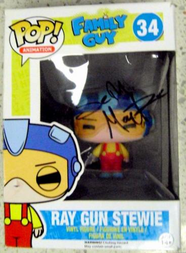 Seth MacFarlane autographed Stewie Family Guy Funko Pop Toy Figure on Box Laser Gun
