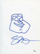 Seth MacFarlane Family Guy Quagmire Autographed Signed 8x10 Sketch JSA COA