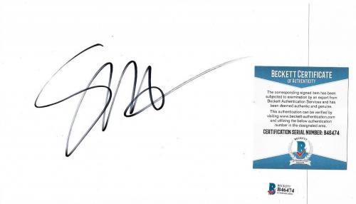 Seth Macfarlane Family Guy/ted Movie Signed Autograph 6x8 Paper Cut Beckett Coa