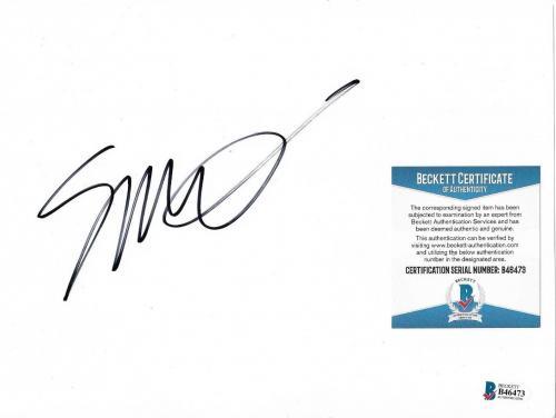 Seth Macfarlane Family Guy/ted Movie Signed Autograph 7x10 Paper Cut Beckett Coa