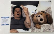 Seth Macfarlane Mark Wahlberg Signed 11x14 Photo Autograph Ted Beckett Coa A