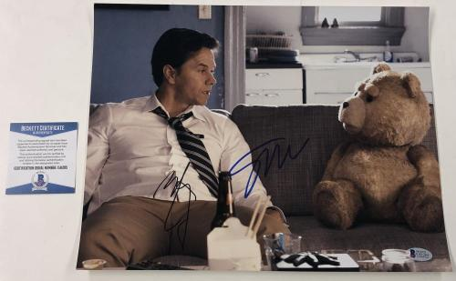 Seth Macfarlane Mark Wahlberg Signed 11x14 Photo Autograph Ted Beckett Coa B