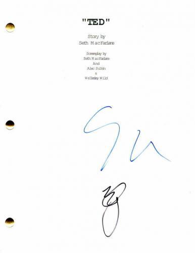 Seth Macfarlane & Mark Wahlberg Signed Autograph - Ted Movie Script - Mila Kunis